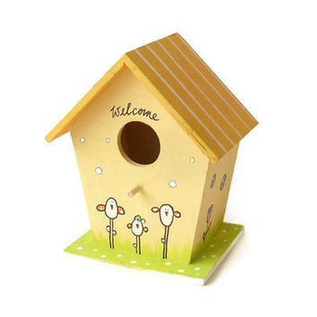 Handpainted primitive Birdhouse Chicken Stable by byAnnoDomini