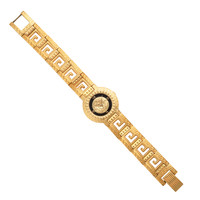 GIANNI VERSACE GOLD WATCH WITH MEDUSA AND GRECA