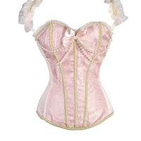Pink Pearled Fashion Corset Top