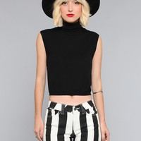 Monica Turtleneck Crop Top - Vintage | GYPSY WARRIOR