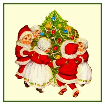 Vintage Christmas Santa Helpers Nimble Nicks # 7 Counted Cross Stitch or Counted Needlepoint Pattern