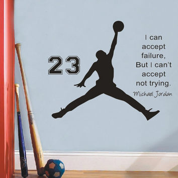 2016 Michael Jordan Basketball Inspirational Wall Sticker citations vinyle stickers muraux Art Mural enfants enfants Room Decor