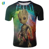marvel movie groot guardian of the galaxy groot o-neck funny t shirts shirt tops with baby groot short sleeve t shirt men