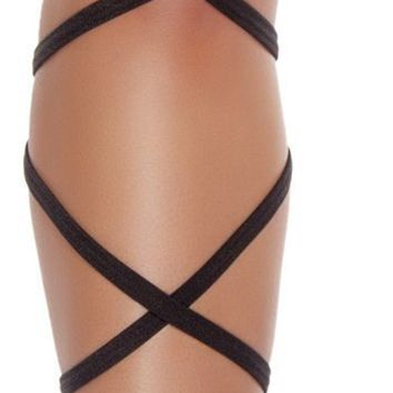 "Roma RM-3231 100"" Solid Leg Strap w/ Attached Garter"