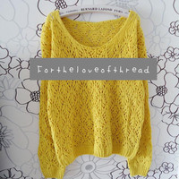 Golden Yellow Knit Sweater