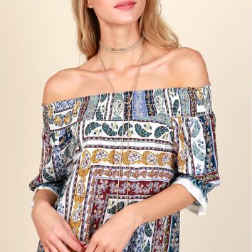 In Your Design Print Top White/Multi