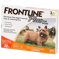 FRONTLINE Plus Flea and Tick Control For Dogs up to 22 lbs