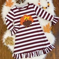 Thanksgiving Cute Toddler Baby Girls Dress Party Pageant Dresses Kids Clothes
