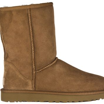 UGG WOMEN'S SUEDE ANKLE BOOTS BOOTIES NEW W CLASSIC SHORT II BROWN 655
