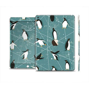The Vintage Penguin Blue Collage Skin Set for the Apple iPad Pro