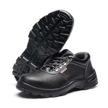 Work Safety Shoes Cow Leather Smash-proof Penetration-resistant 020