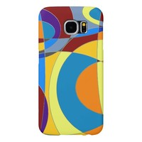 Retro Colorful Abstract Samsung Galaxy S6 Cases