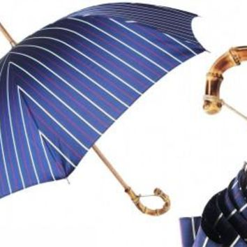 Pasotti Men's Navy Thin Stripes Umbrella