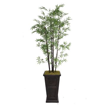 "91"" Tall Black Bamboo Tree in 16"" Planter"