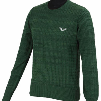 Tuffrider Classic Cable Knit Sweater - Hunter Green
