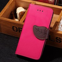 Luxury Leather Card Flip Wallet Case Stand Cover Pouch For iPhone Samsung Galaxy