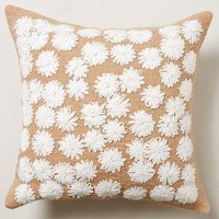 Looped Petals Pillow by Anthropologie White 20 In. Square Pillows and Throws
