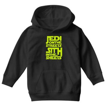 Jedi On The Streets Sith In The Sheets Youth Hoodie