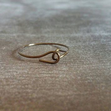 Holding Hands | Simple Ring | Copper Wire Ring | Friendship Ring | Boho Ring | Ecochic Ring | Simple Jewelry | Minimalist Ring | Size 9.5
