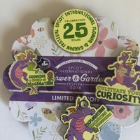 Disney Figment Passholder Flower & Garden 2018 Limited Pin Set New with Card