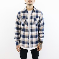 Isaac Flannel (White/Blue)