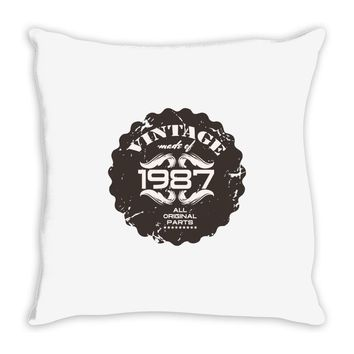 vintage made of 1987 all original parts Throw Pillow