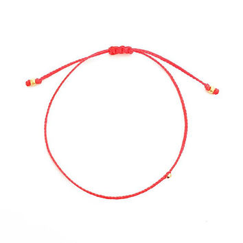 Wax Braided Friendship Bracelet - Best Friend - Red String Bracelet - Gift for Her - Best Friend Gift - Gift for Women - Inspirational