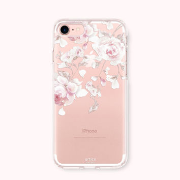Floral iPhone 7 Case, iPhone 7 Plus Case, iPhone 6/6S case, iPhone 6 Plus/6S Plus Case, iPhone 5/5S/SE Case, SAMSUNG Galaxy Case - White Day