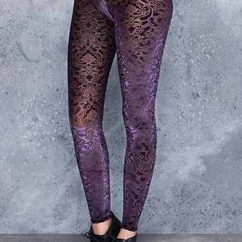BURNED VELVET JEWEL LEGGINGS - LIMITED