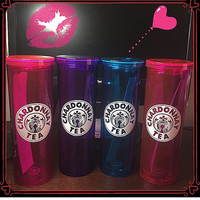 16oz Double Wall Tumbler/ Any Single Color Decal Your Choice
