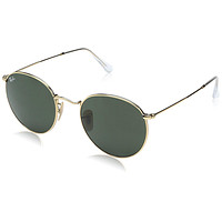 Ray-Ban Mens Round Metal Sunglasses (RB3447) Metal