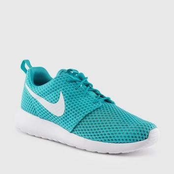 Nike Roshe Run One Blue Green New in Box 718552-410 Men's Running Shoes