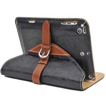 Vintage Leather Buckle iPad Mini Case & Stand