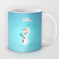 Olaf (Frozen) Mug by Robert Woods