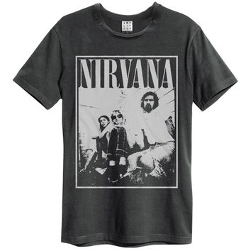 Nirvana Men's  Group Shot Slim Fit T-shirt Black