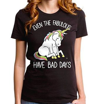 Even The Fabulous Have Bad Days Short-sleeve Womens Crew Tee