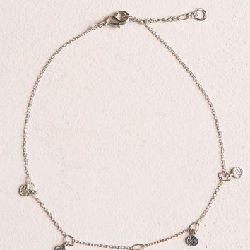 SILVER DANGLE ANKLET