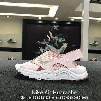 Nike Air Huarache Women Summer Casual Pink Women Fashion Sandals Slipper Sneakers Open-toed Shoes - 885118-600 (19)