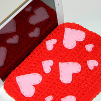 Valentine iPadmini Case- hearts - iPad Mini - crochet case
