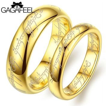 DCK9M2 Fashion Women Man Luxury Vintage European Noble Jewelry Tungsten Carbide Gold Plated Magic Ring High Quality Lover Gifts OR14