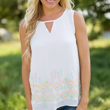 Cool Breeze Blouse in White