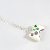 XBOX 360 Controller Necklace, Silver Plated Chain :)