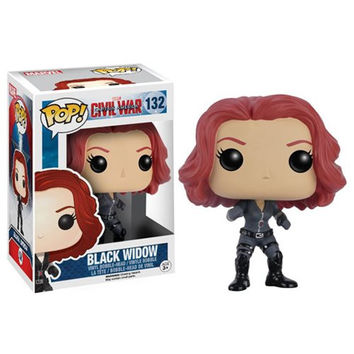 Captain America Civil War Black Widow Pop Vinyl Figure