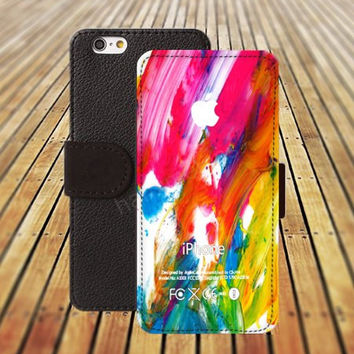 iphone 5 5s case watercolor phone iphone 4/4s iPhone 6 6 Plus iphone 5C Wallet Case,iPhone 5 Case,Cover,Cases colorful pattern L341