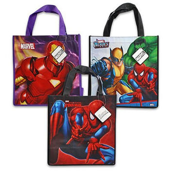 3 Assorted Spiderman Iron MAN Marvel Heroes Non Woven Bag-medium