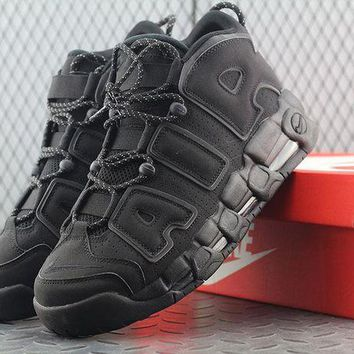 VONEW8L Nike Air More Uptempo 414962-004 For Women Men Running Sport Sneakers Black