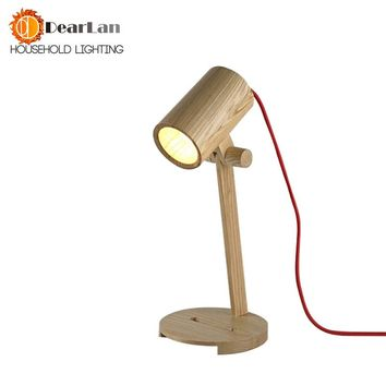 Wood Reading LED Table Lamps