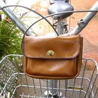 tool bag bicycle leather satchel handmade tan