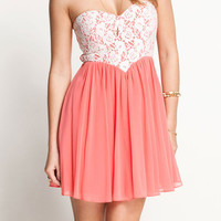 Nice Style Pink Lace Dress&party dress from threelittlebirds