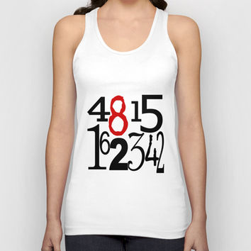 The Numbers Unisex Tank Top by Tiffany Dawn Smith